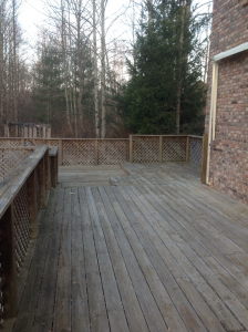 Before: Old Deck